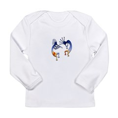 Two Kokopelli #68 Long Sleeve Infant T-Shirt