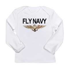 Fly Navy Wings Long Sleeve Infant T-Shirt