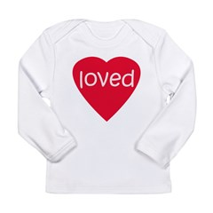 Red Loved Long Sleeve Infant T-Shirt
