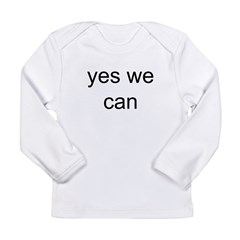 obama yes we can Long Sleeve Infant T-Shirt