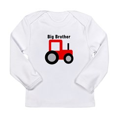 Big Brother Red Tractor Long Sleeve Infant T-Shirt