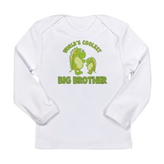 world's coolest big brother dinosaur Long Sleeve Infant T-Shirt