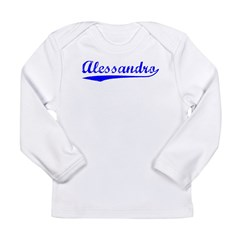 Vintage Alessandro (Blue) Long Sleeve Infant T-Shirt
