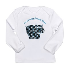 I'm a hungry hungry hippo Long Sleeve Infant T-Shirt