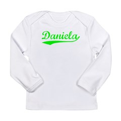 Vintage Daniela (Green) Long Sleeve Infant T-Shirt