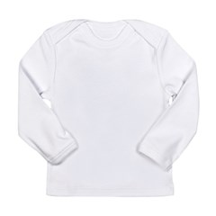 word no black Long Sleeve Infant T-Shirt
