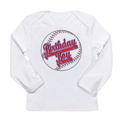 Baseball Birthday Boy Long Sleeve Infant T-Shirt