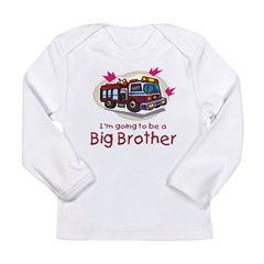 Big Brother Firetruck Long Sleeve Infant T-Shirt