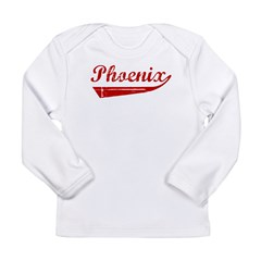 Phoenix (red vintage) Long Sleeve Infant T-Shirt