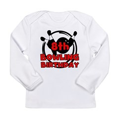 8th Bowling Birthday Long Sleeve Infant T-Shirt