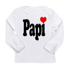 I love Papi Long Sleeve Infant T-Shirt