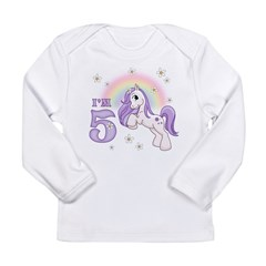 Pretty Pony 5th Birthday Long Sleeve Infant T-Shirt