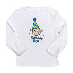 Birthday Boy - Monkey Long Sleeve Infant T-Shirt