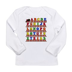 ABC Train Long Sleeve Infant T-Shirt