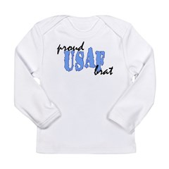 cp proud usaf brat blue Long Sleeve Infant T-Shirt