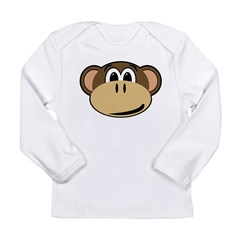 normal_monkey Long Sleeve Infant T-Shirt