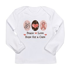 Peace Love Hope For A Cure Long Sleeve Infant T-Shirt