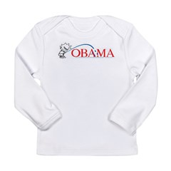 Piss on Obama Long Sleeve Infant T-Shirt