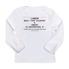Labor Built The Country Long Sleeve Infant T-Shirt