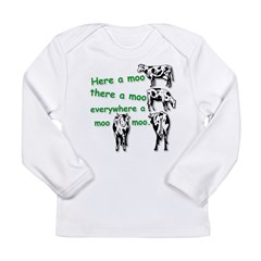 MooMoo HR.jpg Long Sleeve Infant T-Shirt