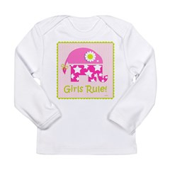 Girls Rule! Elephant Long Sleeve Infant T-Shirt