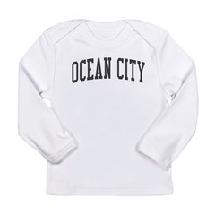 Ocean City New Jersey NJ Black Long Sleeve Infant T-Shirt