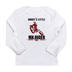 Daddy's LiL MX Rider Long Sleeve Infant T-Shirt