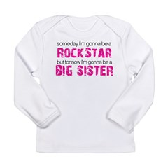 rockstar big sister Long Sleeve Infant T-Shirt