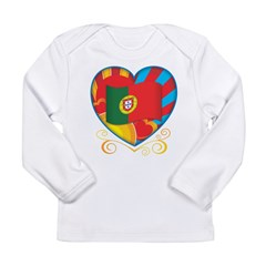 Portugese Heart Long Sleeve Infant T-Shirt