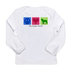Peace Love Newfie Long Sleeve Infant T-Shirt