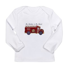 My Daddy is My Hero (Fireman) Infant Creeper Long Sleeve Infant T-Shirt