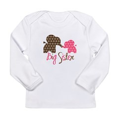 Big Sister Elephant Long Sleeve Infant T-Shirt