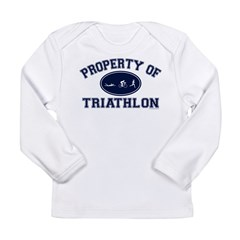 Property of Triathlon Icons Long Sleeve Infant T-Shirt