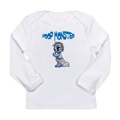 Poop Monster Long Sleeve Infant T-Shirt