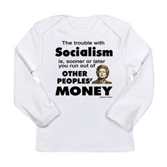 Thatcher Socialism Quote Long Sleeve Infant T-Shirt