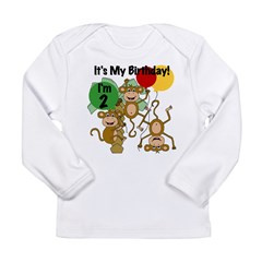 Monkey 2nd Birthday Long Sleeve Infant T-Shirt
