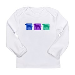 Color Row Curly Coated Long Sleeve Infant T-Shirt