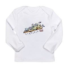 Virginia Map Long Sleeve Infant T-Shirt