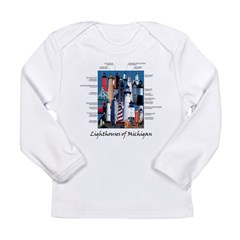 Lighthouses of Michigan Long Sleeve Infant T-Shirt