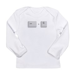 Ctrl+C Copy Long Sleeve Infant T-Shirt