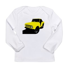 Yellow Bronco Long Sleeve Infant T-Shirt