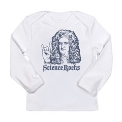 Isaac Newton Science Rocks Long Sleeve Infant T-Shirt