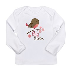Big Sister - Mod Bird Long Sleeve Infant T-Shirt