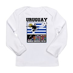Uruguay World Soccer Futbol Long Sleeve Infant T-Shirt