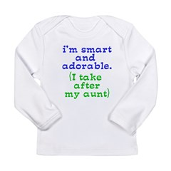 smart-and-adorable Long Sleeve Infant T-Shirt