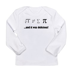 I ate sum Pi Long Sleeve Infant T-Shirt