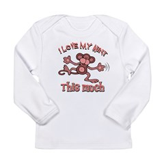 I love my Aunt Long Sleeve Infant T-Shirt