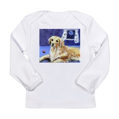 GOLDEN RETRIEVER senses moon Infant Creeper Long Sleeve Infant T-Shirt