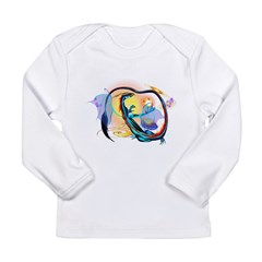 Blue Galaxy Dragon Long Sleeve Infant T-Shirt