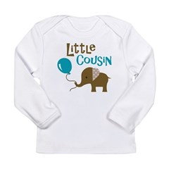 Little Cousin - Mod Elephant Long Sleeve Infant T-Shirt